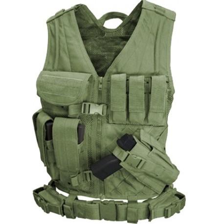 Gilet de combat Condor Outdoor Crossdraw Vest sur www.equipements-militaire.com