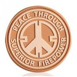 Patch militaire Peace Through Superior Firepower