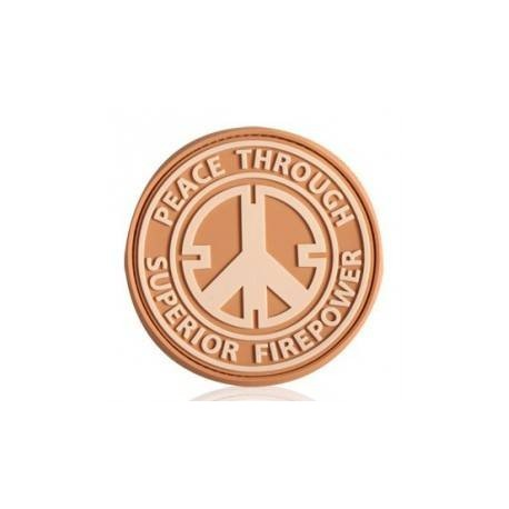 Patch militaire Peace Through Superior Firepower sur www.equipements-militaire.com