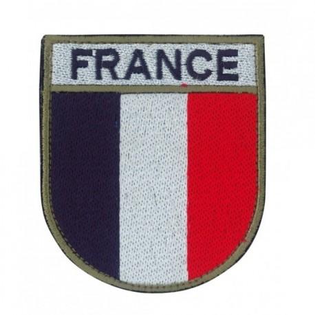 Ecusson militaire drapeau France sur www.equipements-militaire.com