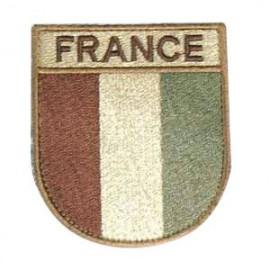 Ecusson militaire drapeau France désert