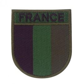 Ecusson militaire drapeau France basse-luminosité