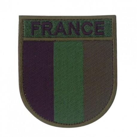 Ecusson militaire drapeau France basse-luminosité sur www.equipements-militaire.com