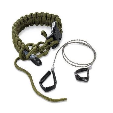 Bracelet paracorde avec mini-scie CRKT Onion Survival Para-Saw sur www.equipements-militaire.com