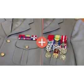 Kit complet Opex porte-médailles et barrettes militaires Martineau