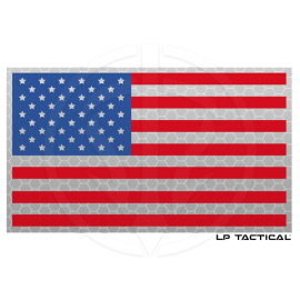 Patch Reflective Full Color drapeau USA LP Tactical