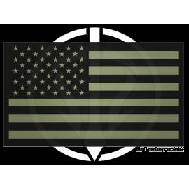 Patch Reflective drapeau USA LP Tactical