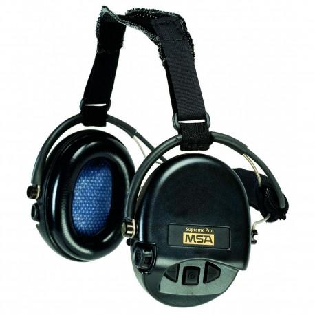 Casque anti-bruit Suprême Pro MSA serre-nuque coussinets mousse chez www.equipements-militaire.com