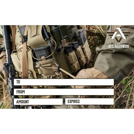 Carte cadeau ATS ASCENSIO chez www.equipements-militaire.com