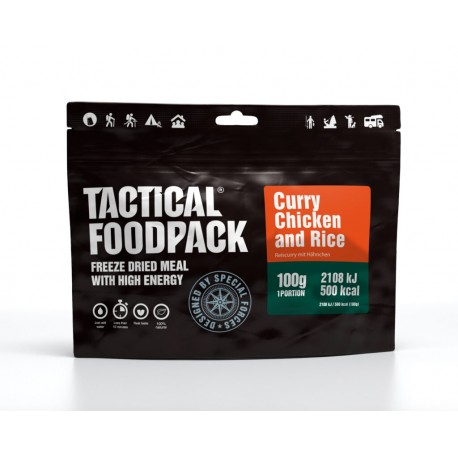 Curry de Poulet et Riz Tactical FoodPack chez www.equipements-militaire.com