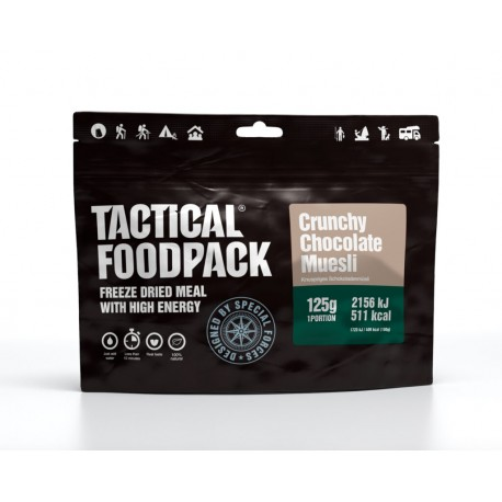 Muesli croquant au chocolat Tactical FoodPack chez www.equipements-militaire.com