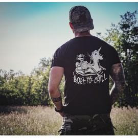 T-shirt Unicorn's Operation Born To Chill