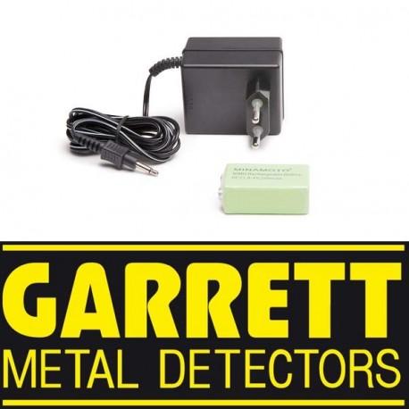 Chargeur + batterie Ni-Cad 9 V pour Garrett SUPER SCANNER