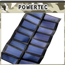 POWERTEC Chargeur Solaire Compact et pliable